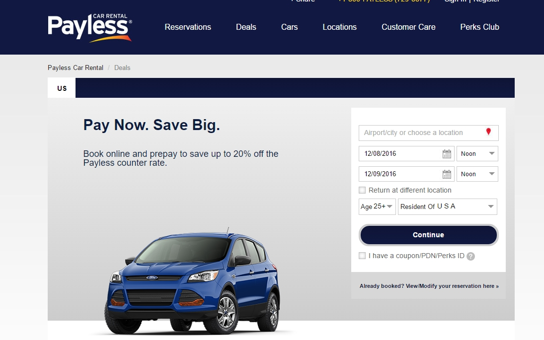 Payless car coupon code