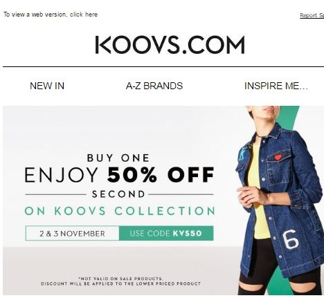 Koovs discount coupon