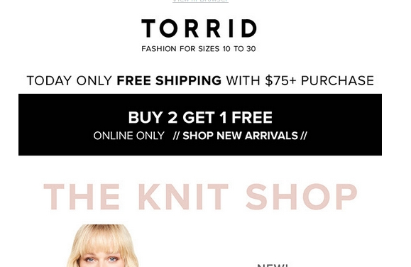 Order online or have customer service look up the nearest Torrid store that has your item in stock. And be sure to browse the sale and clearance pages for markdowns on cute items and wardrobe basics. For a flattering new look for less, shop with appzmotorwn.cf online coupons.5/5(5).
