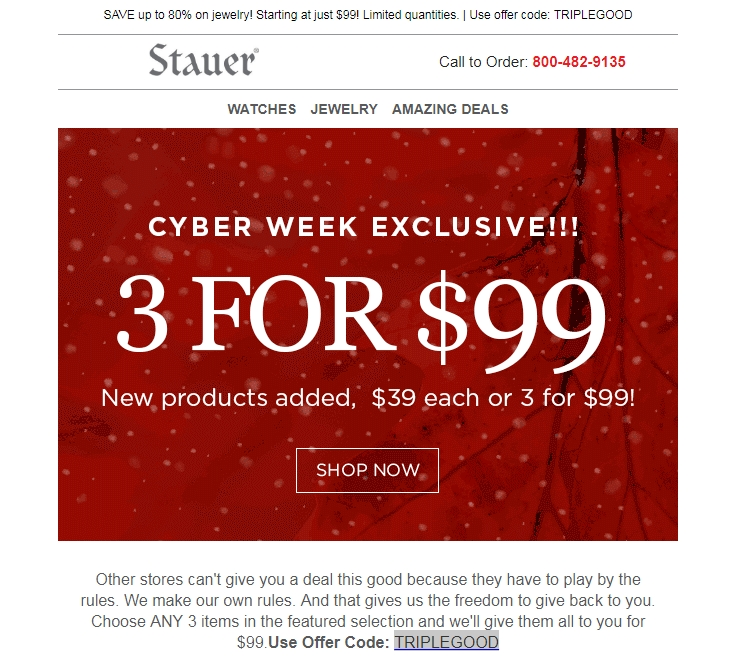 Stauer coupons discounts