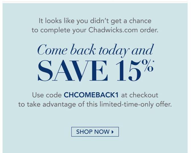 Chadwicks coupon code