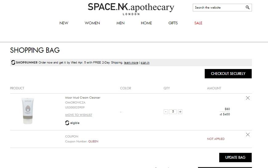 Coupon code space nk