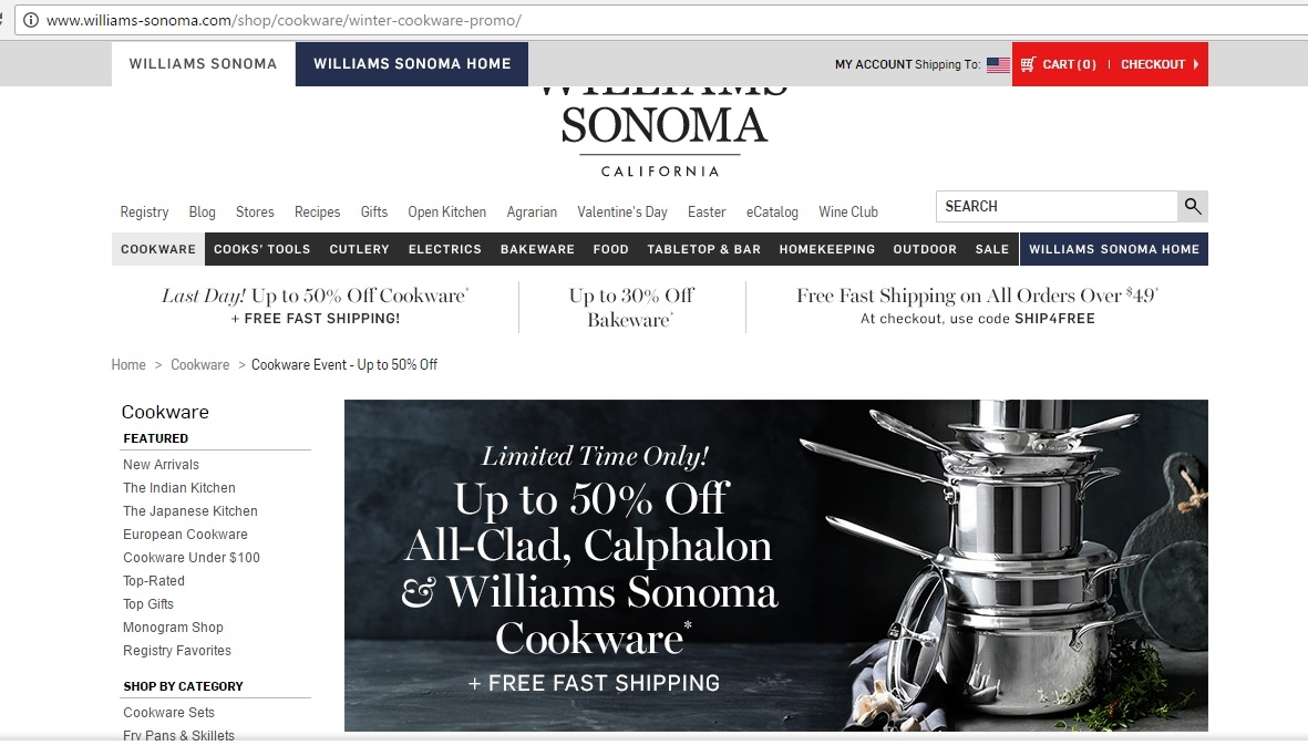 photograph relating to Williams Sonoma Coupons Printable titled William sonoma discount coupons february 2018 - Kohls discount coupons july 2018