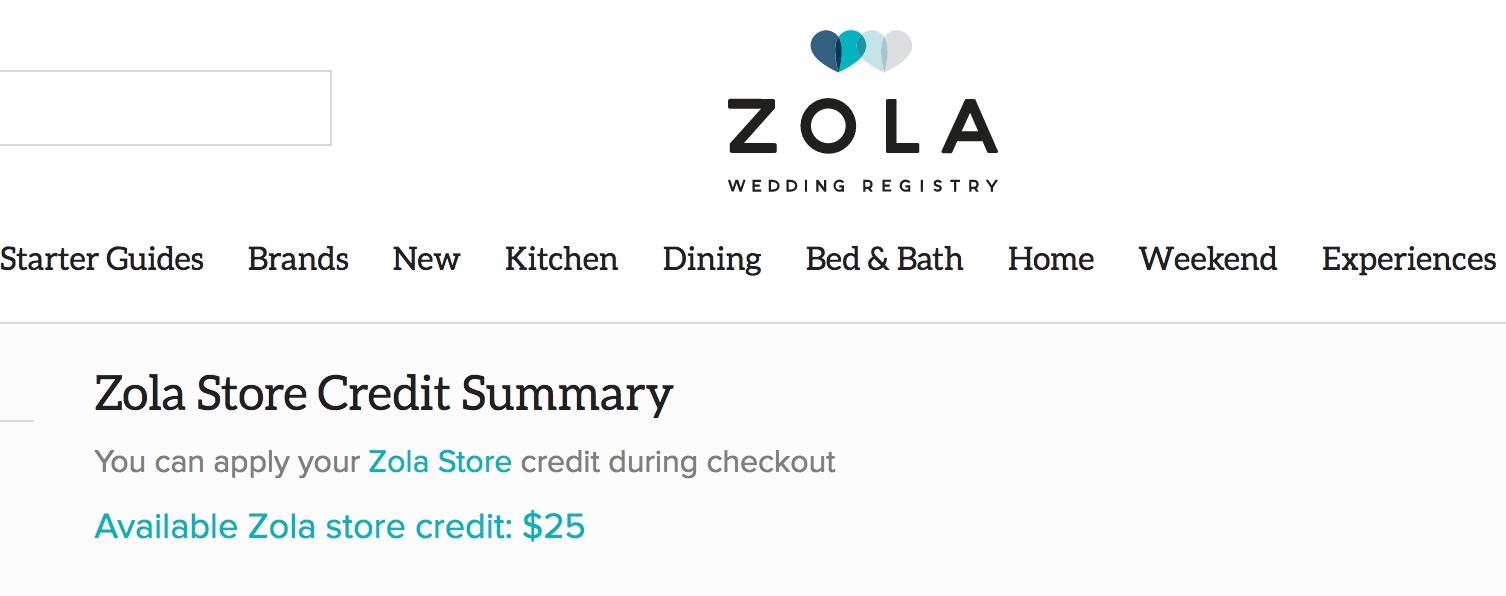 Zola coupon code