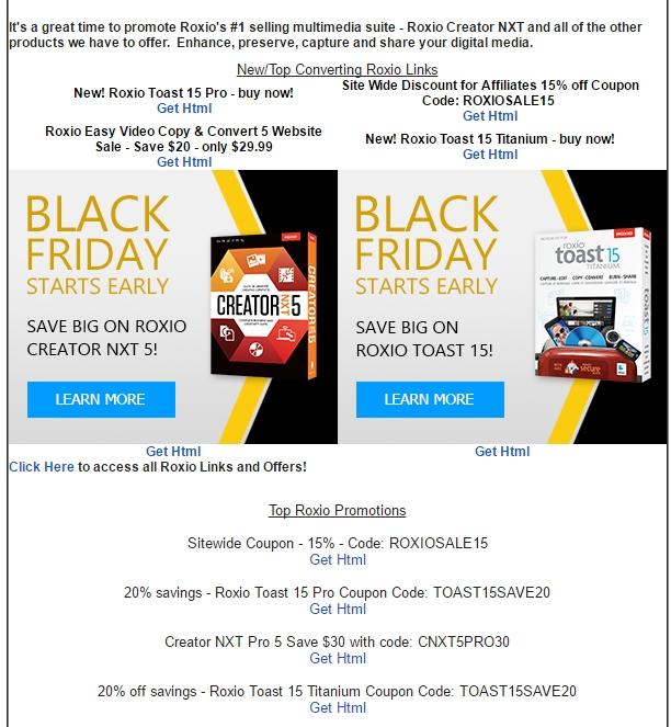 Roxio coupon code