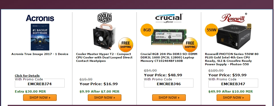 With nearly 15 years of experience under their belt, Crucial Technology uses their insight to help customers find the right memory or storage upgrade for their computer. When folks use a Crucial Technology Coupon Code, they can save big and enjoy the company's services at an amazing price they can't find anywhere else.