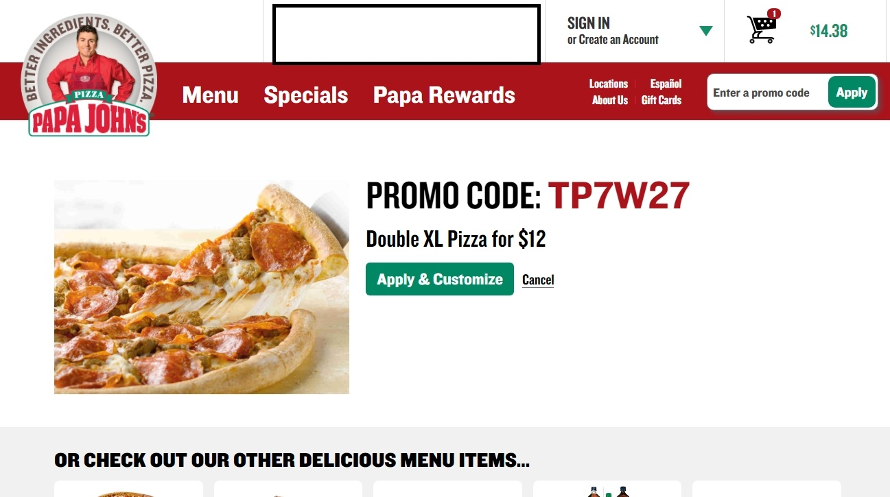 You can get an extra $3 off discount on Large Size Pizzas when you use this Papa Murphy's promo code at checkout.