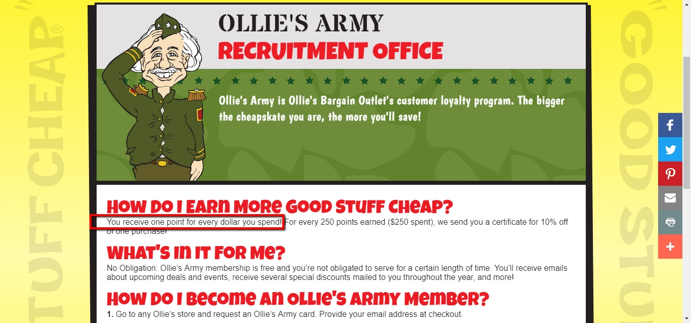 Ollies discount coupon