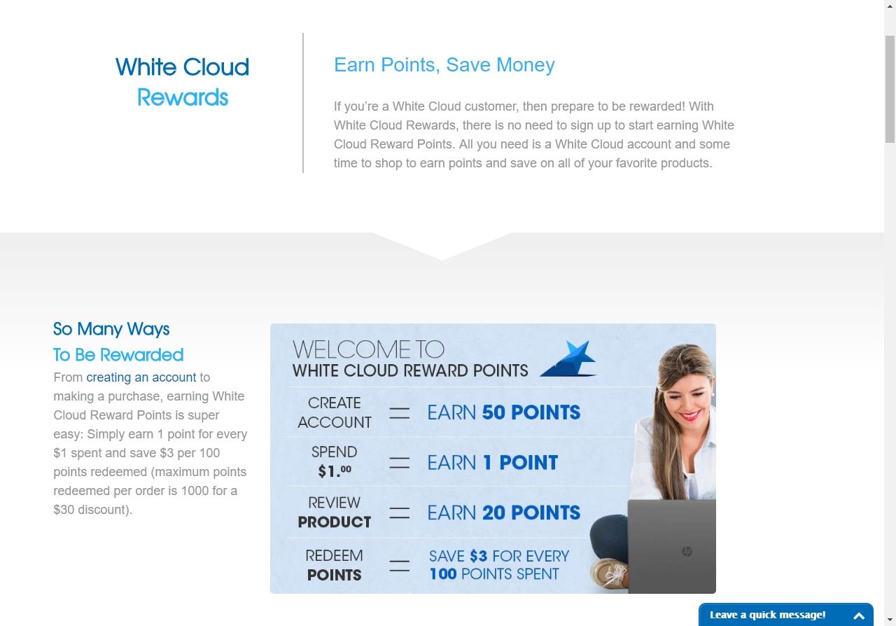 White cloud coupon code 2018