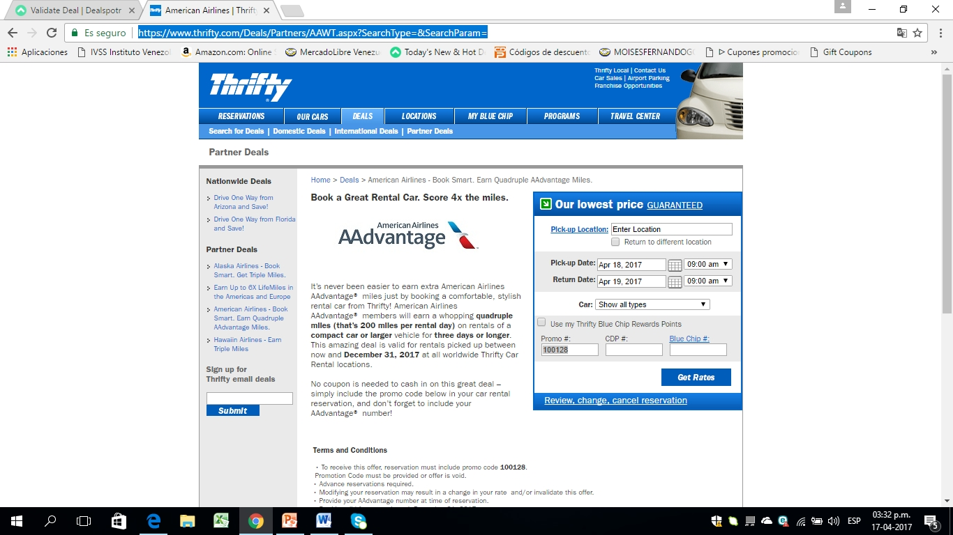 Thrifty car rental coupons suv