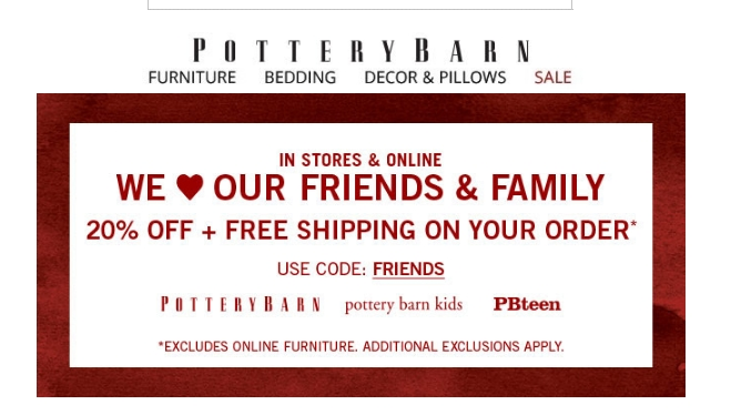 30 Off Pottery Barn Coupon Code 2017 All Feb 2017 Promo