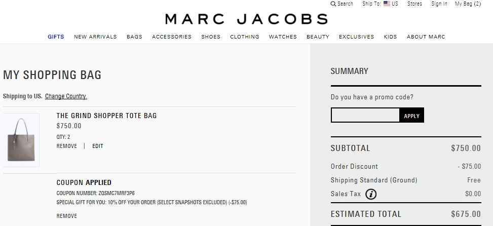 Marc jacobs coupon code 2018