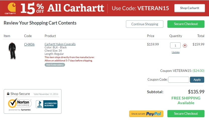 Trending Now: 15 Coupons, Promo Codes, & Deals at Carhartt + Earn 8% Cash Back With Giving Assistant. Save Money With % Top Verified Coupons & Support Good Causes Automatically.