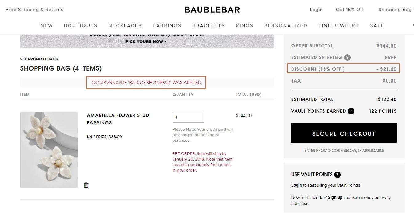 Bauble bar coupon code