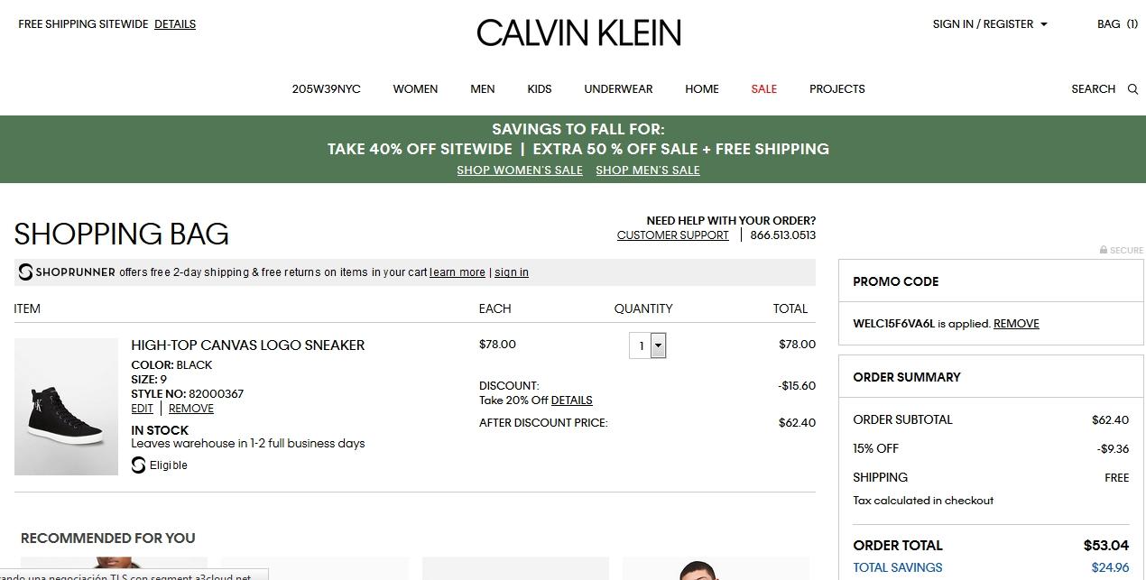 Calvin klein coupon code
