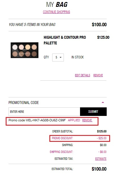 Nyx cosmetics coupon code 2018