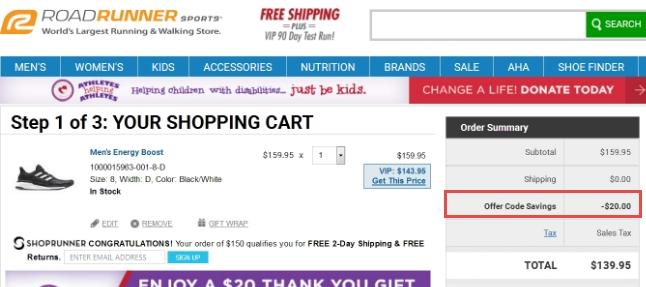 Road runner coupon code