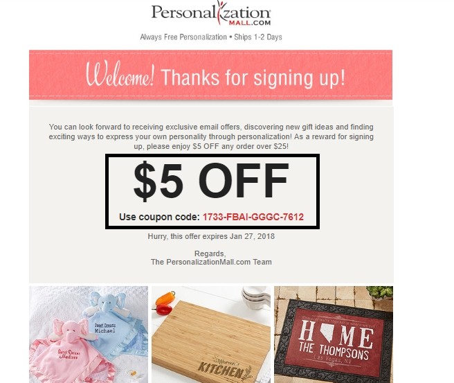 Personalization mall coupon code
