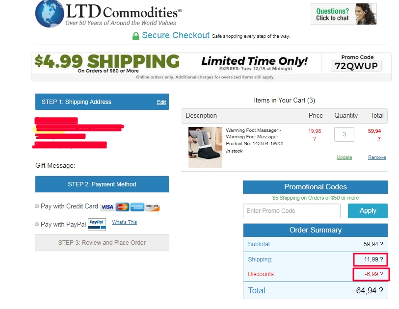 ltd commodities coupon code free shipping