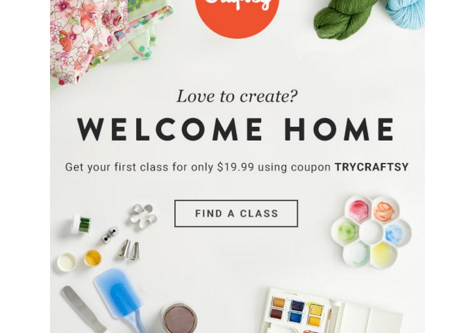 Craftsy coupon code