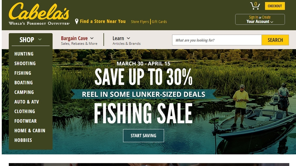 15 off cabelas coupon code cabelas 2018 promo codes for Cabela s fishing sale