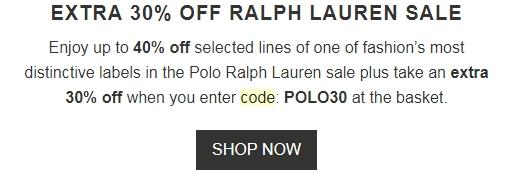 Ralph lauren coupon code 25 off