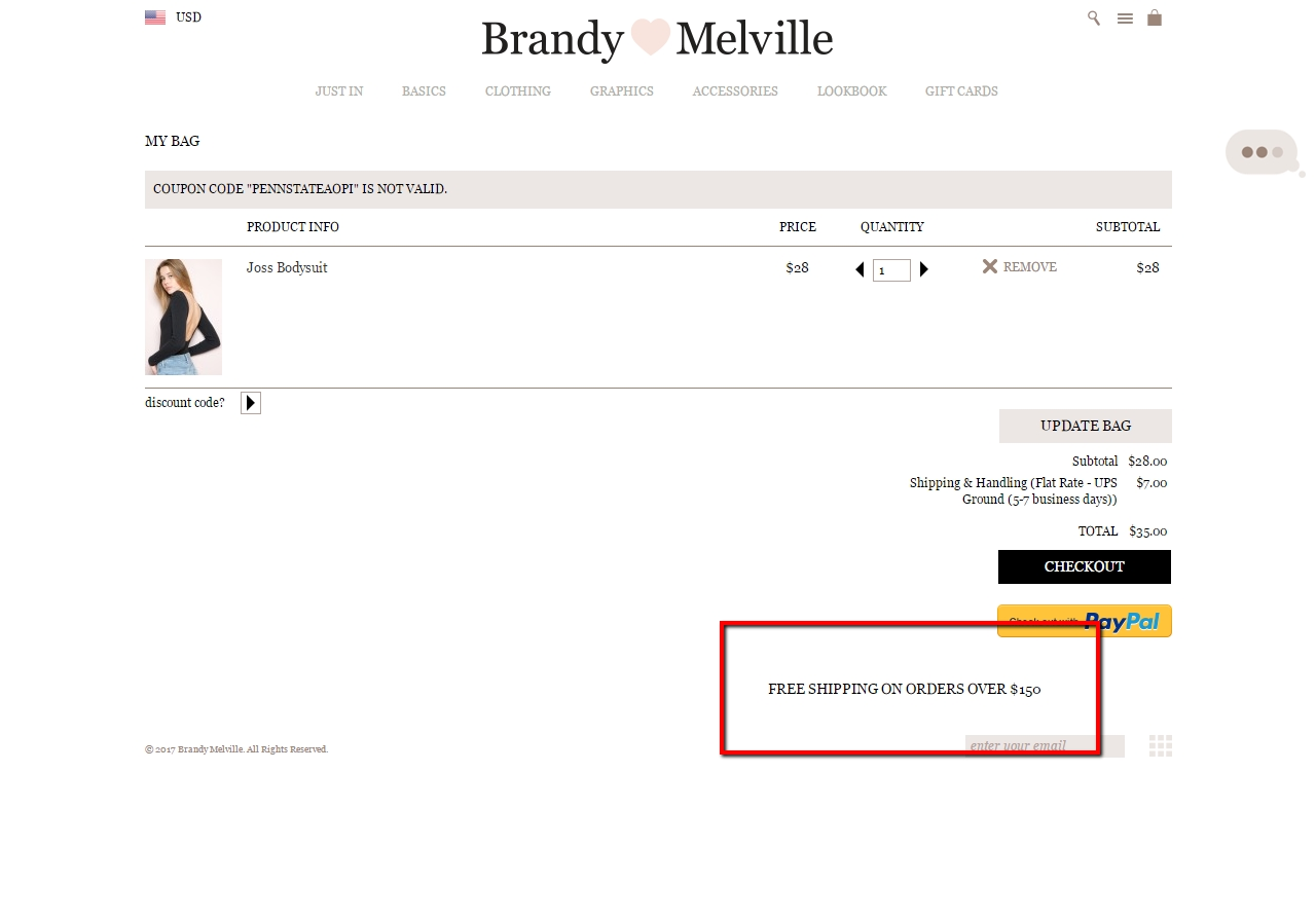 Brandy melville coupon code