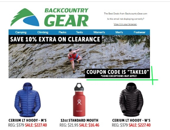 15% back. 15% bonus on everything (even sale prices) (maximum $) Expires Dec. 10, Act now! This offer will be removed in. This offer is redeemable by new CouponCabin members only.