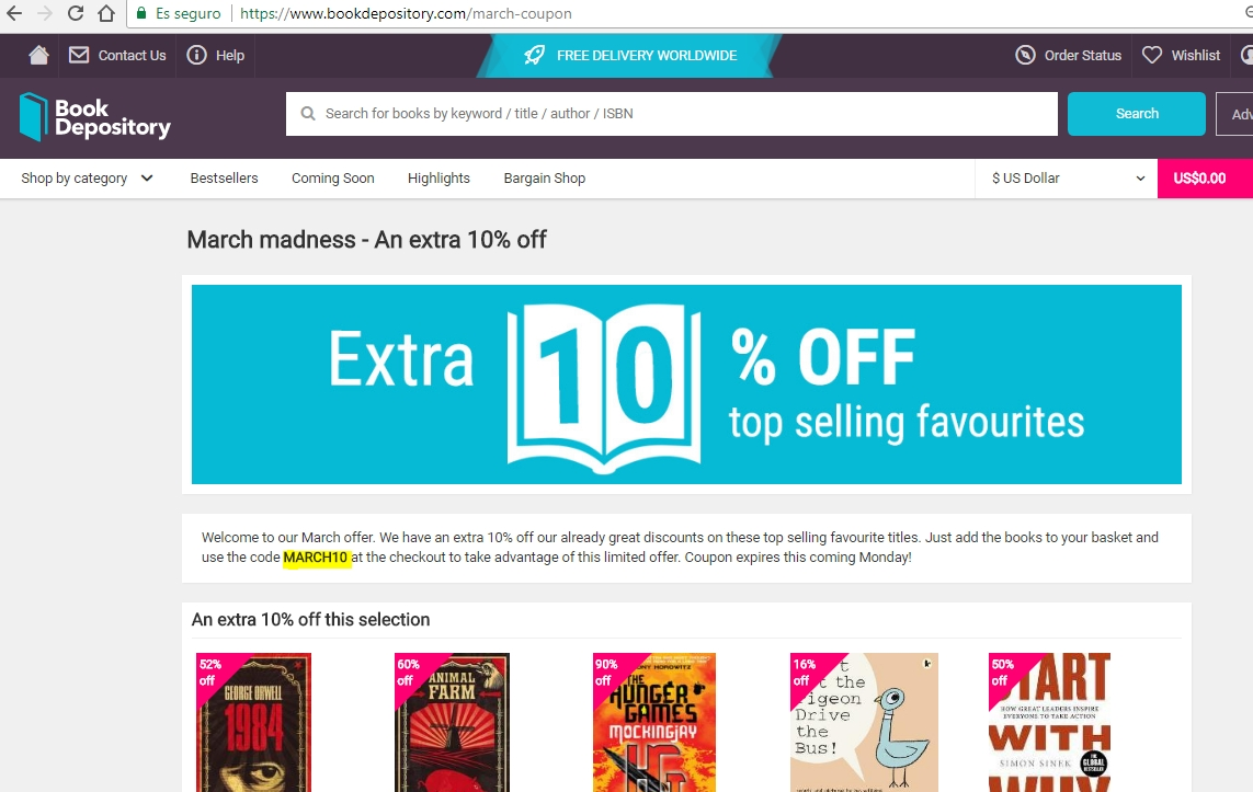 Book depository coupon september 2018