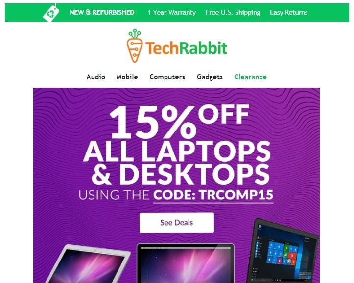 Techrabbit coupon code
