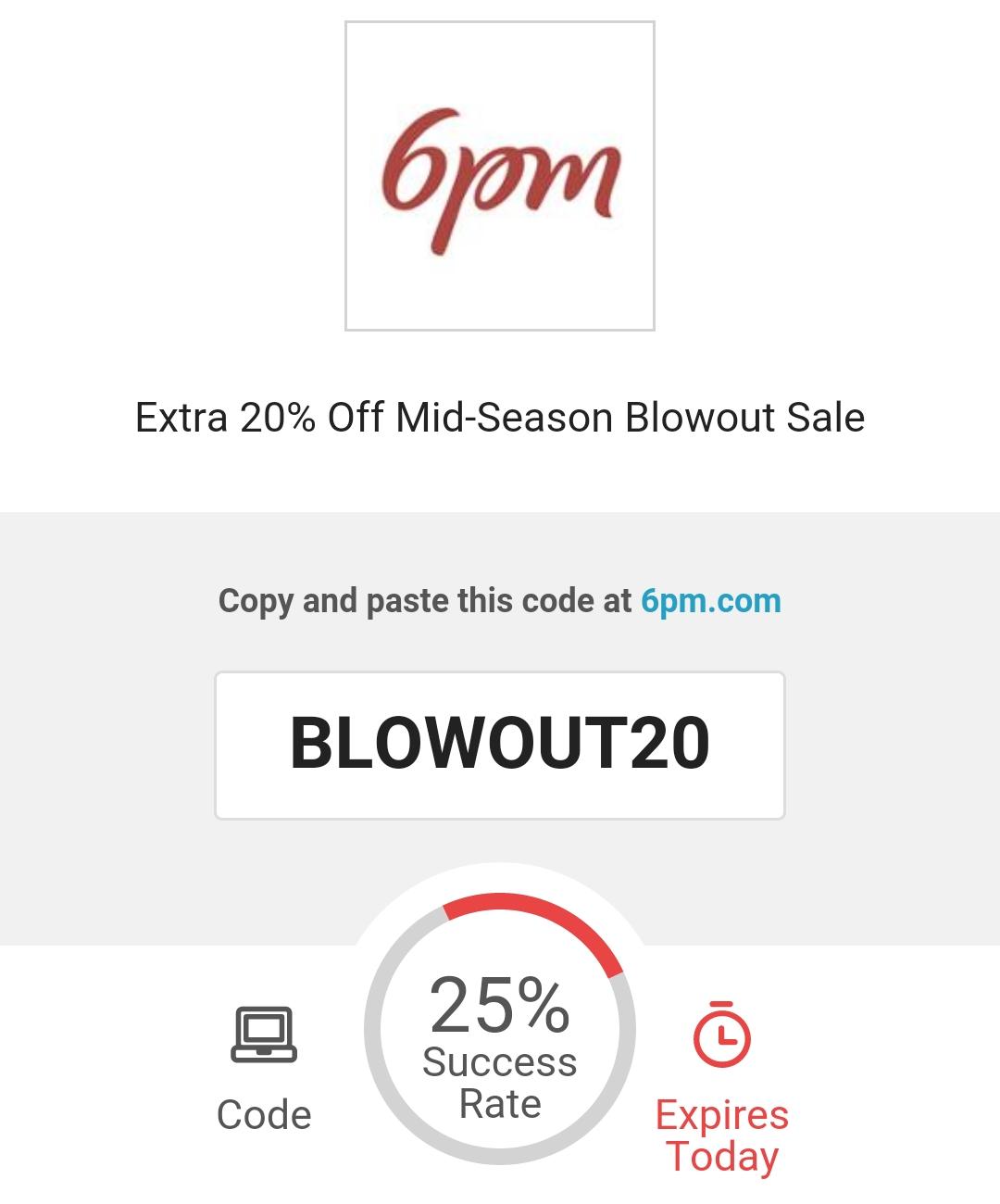 Six 6pm coupon code