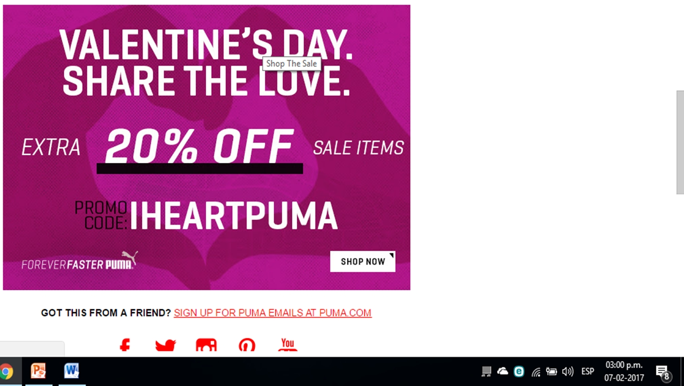 Puma discount coupon
