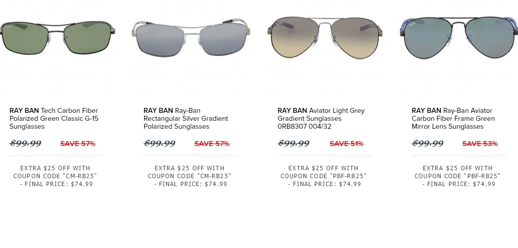 ray ban amazon promotional code