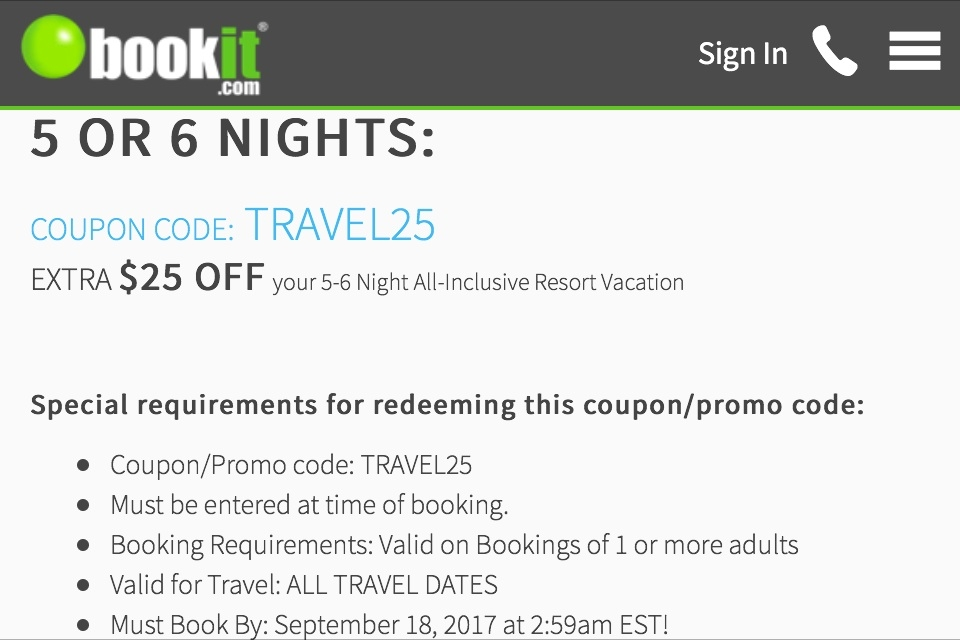 Bookit com coupon code