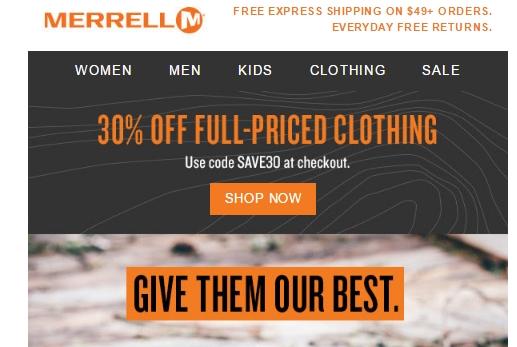 Merrell coupon code