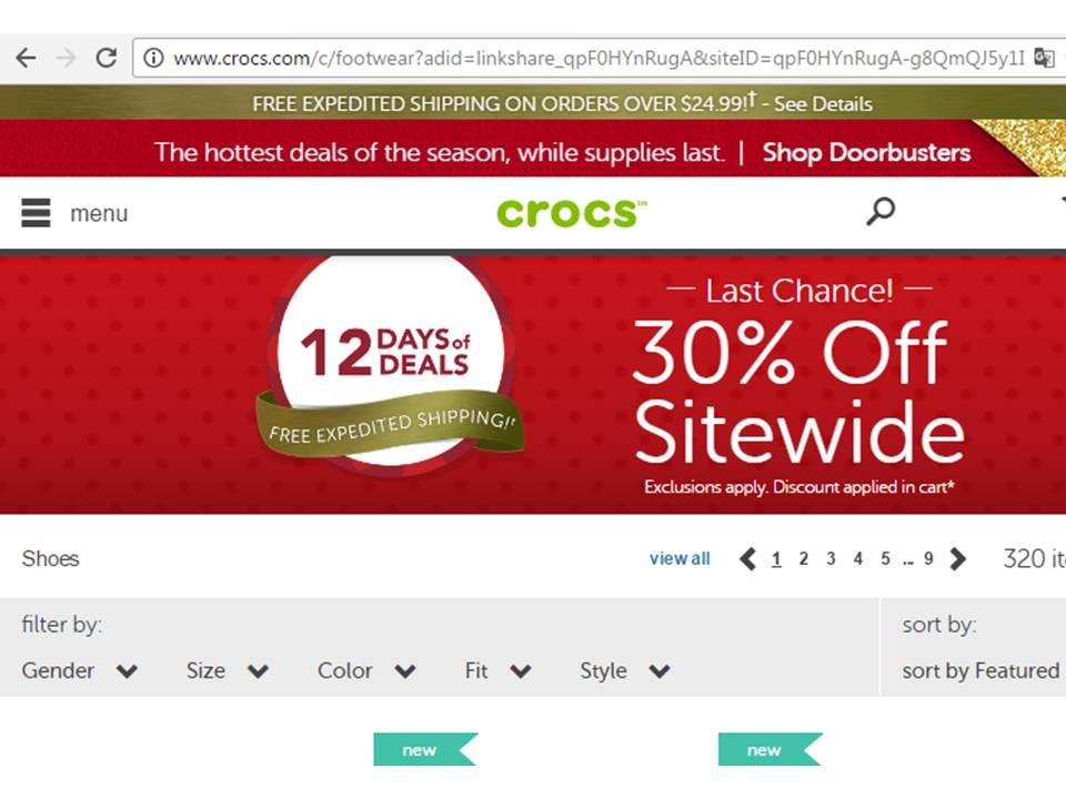 Crocs coupon codes