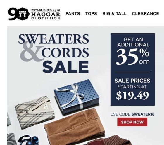 Haggar coupon code