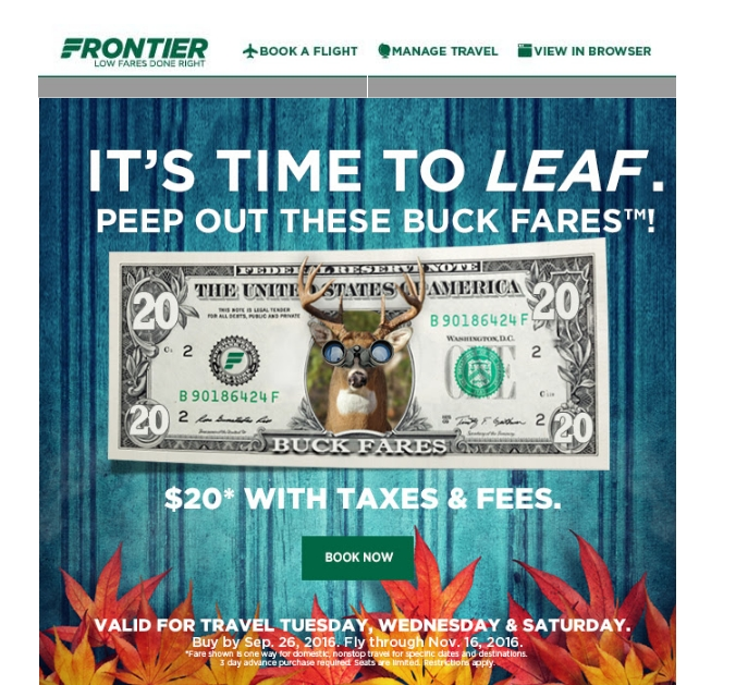 Get 20 Frontier promo codes and coupon codes on RetailMeNot. Today's top Frontier Airlines promo code: $ Flight Voucher Every Account Anniversary After Spending $2,+ on .