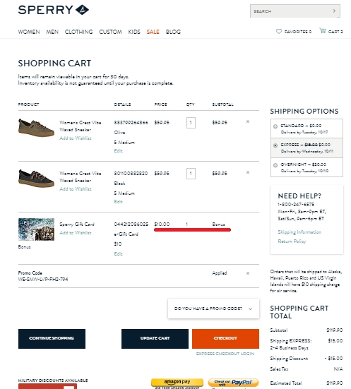 Sperry top sider coupons