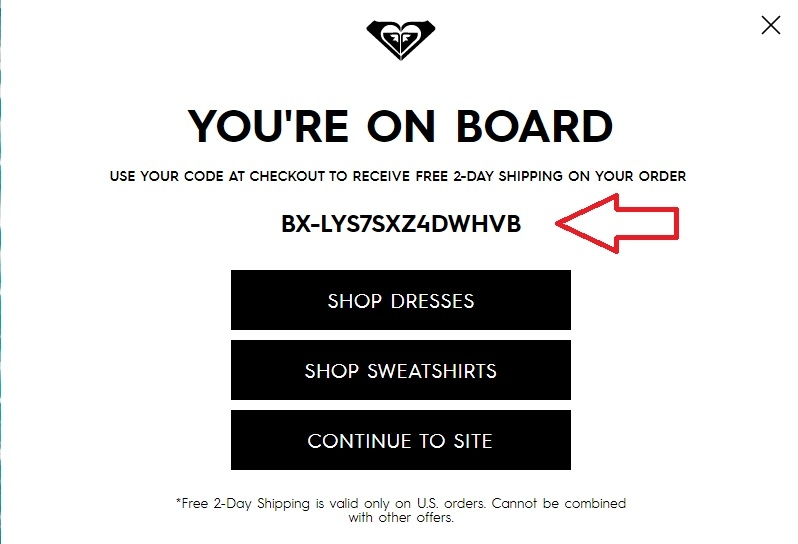 Roxy coupon codes
