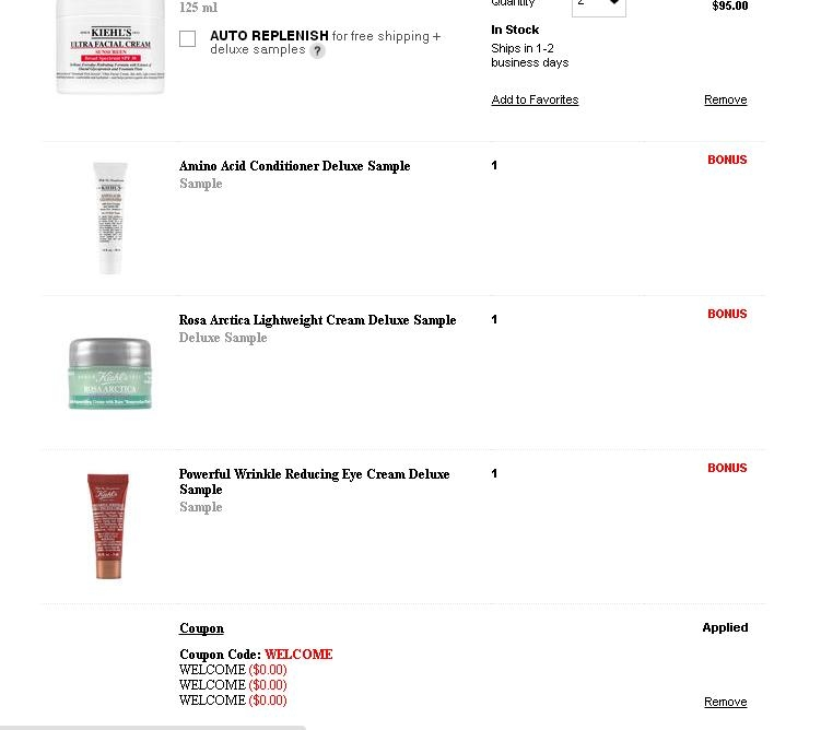 Kiehls coupon code