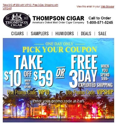 Cigar com coupon code