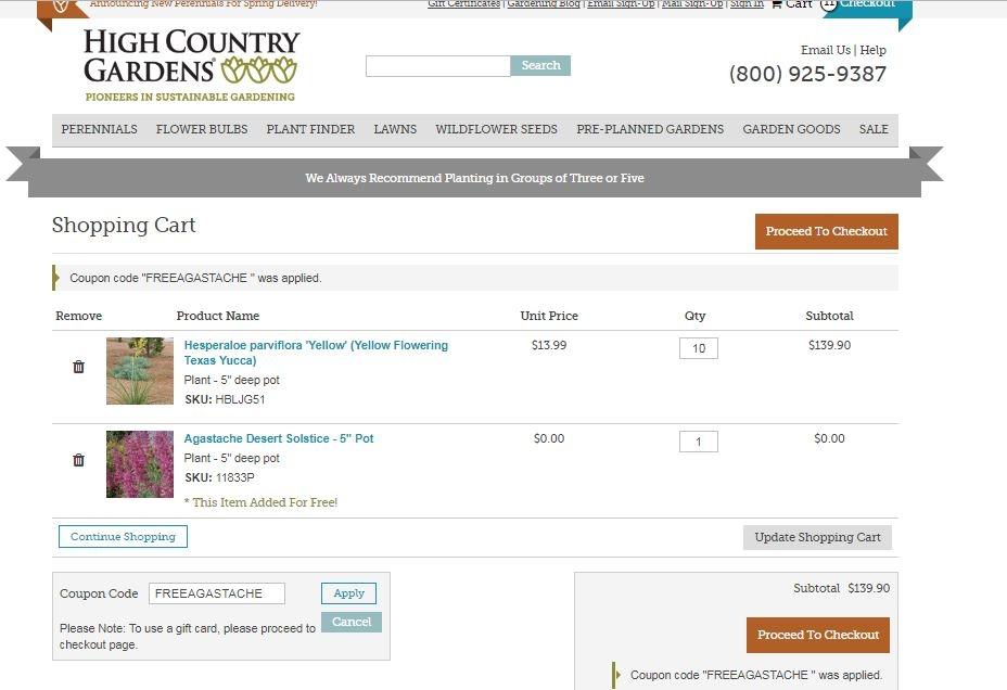 High country gardens coupon code