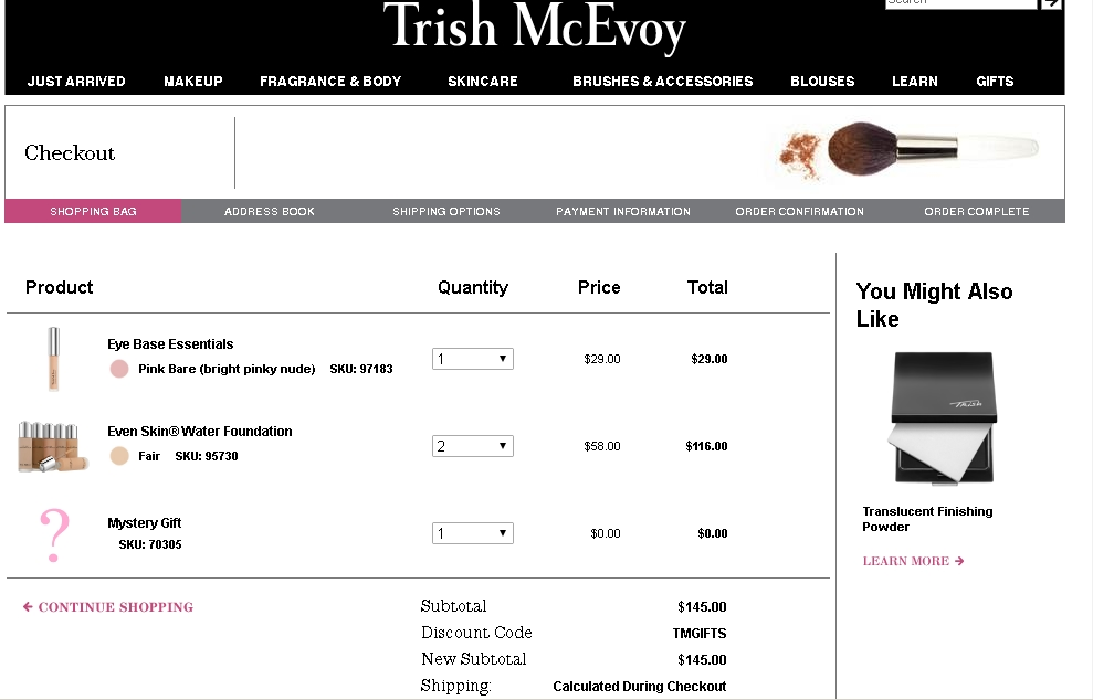 Never miss a single coupon for Trish McEvoy! people saving now.