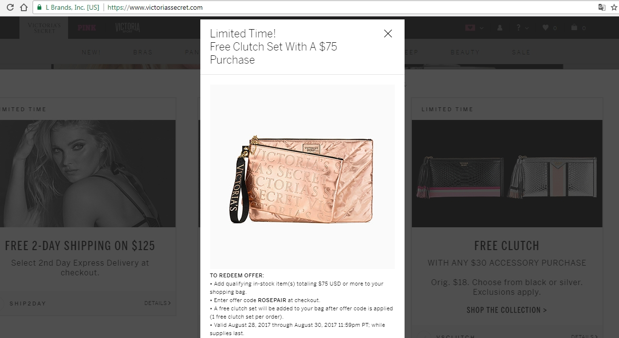 Victoria secret free shipping coupon october 2018