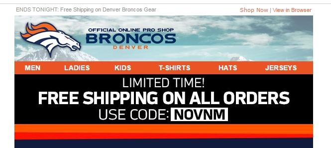 Denver broncos store coupons