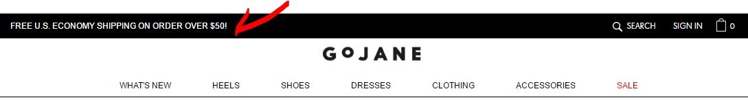 Gojane coupons november 2018