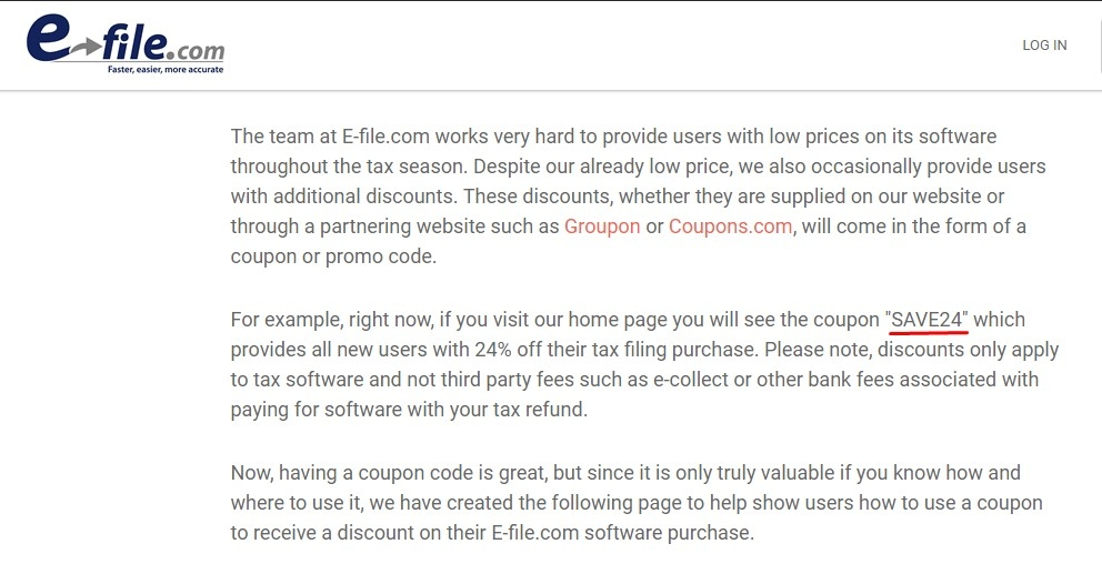 Irs e file coupon code