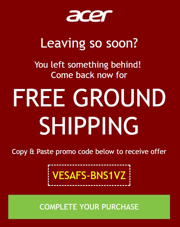 Amazon coupons acer