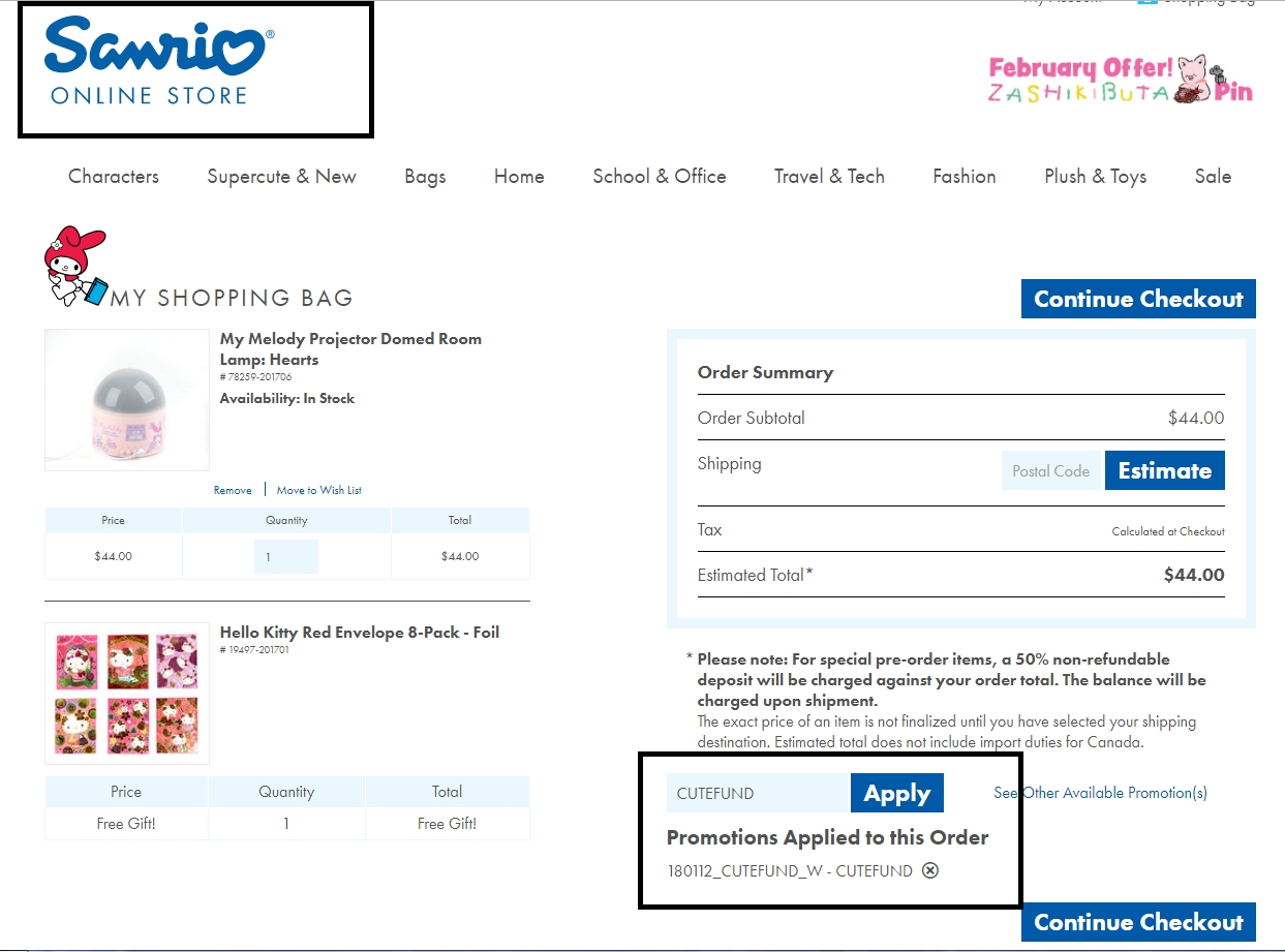 Sanrio Coupon Codes. 10 Coupons $63 Average savings. Sanrio is best known for Hello Kitty. Truth be told, Hello Kitty is without a doubt one of the most successful marketing brands in the world. As its slogan goes, Sanrio is all about small gifts, big smiles. Its most popular products include stationery, plush toys, accessories, figurines.